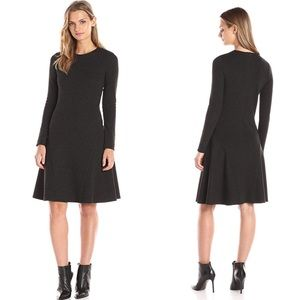Theory Idol Long Sleeve Fit & Flare Jersey Dress 2